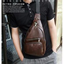 Túi đeo chéo da nam hàng Quảng Châu QC010