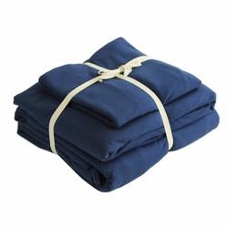 Bộ chăn ga gối chất liệu  Cotton  màu xanh navy