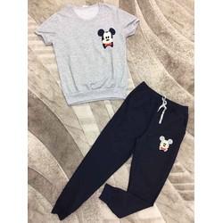Set bộ thun Mickey quần dài hàng thiết kế - MS: S050628 Gs 140K