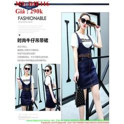 Váy jean kiểu yếm short thời trang và sành điệu duyên dáng DJE116