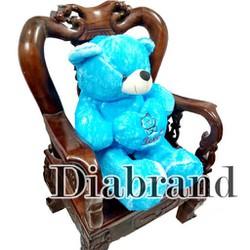 Gấu bông Teddy Angel ôm tim hàng VNXK màu xanh dương đậm khổ 1m2