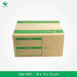 10 Thùng carton - Mã M21 - Kích thước 18*14*12 cm