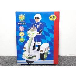 Xe mô hình mô tô pin cảnh sát - 010A