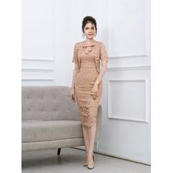Set Đầm Ren 2 Dây + Áo Khoác Nơ Xinh