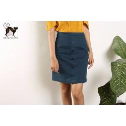 Chân váy công sở chữ A kaki thun