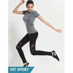 Quần tập gym nữ Power Legging-Đồ áo quần thể thao-Quần tập thể thao nữ