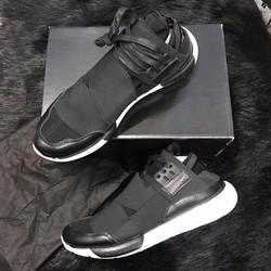 Tặng móc khóa giày - Giày sneaker Y3 Qasa High In Black  White