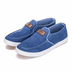 Giày Lười Vải Jean - Màu Xanh Nhạt