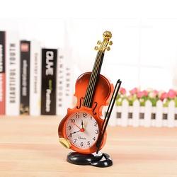 Đồng hồ để bàn Kiểu dáng đàn violin Décor Giao màu ngẫu nhiên