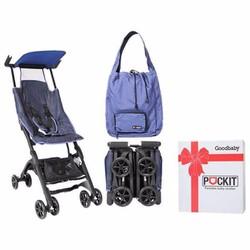 Xe đẩy GB Pockit - Vải Jean - Bảo hành chính hãng 12 tháng