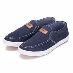 Giày Lười Vải Jean - Màu Xanh Đậm