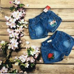 Quần bé gái sort jean mềm mịn mát mẻ mùa hè