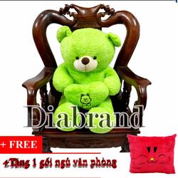 Gấu bông Teddy Angel ôm tim hàng VNXK màu xanh lá khổ 1m2 tặng gối