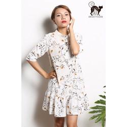 Đầm suông vintage hoa nhí  - TaTu clothing