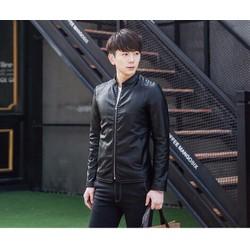 Aó khoác da trơn lót lông phong cách Hàn Quốc