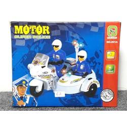 Xe mô hình mô tô pin cảnh sát - 001A