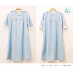 Đầm bầu dáng suông xanh Mint