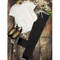 Set bộ áo thun tay con quần dài viền chân eo ! MS: S300602 Gs:115k