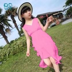 Đầm bé gái maxi voan đi biển mùa hè