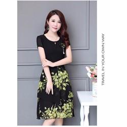 HÀNG NHẬP - ĐẦM XÒE VOAN ĐÍNH NƠ SANG TRỌNG_CL-392