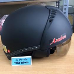 Mũ bảo hiểm Andes 181  đen nhám