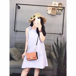 Đầm Suông Viền Bèo Tay
