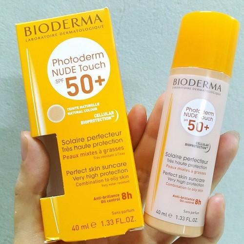 Kem chống nắng Bioderma Phototerm Nude Touch xách tay Pháp