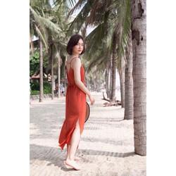 Đầm Maxi cam cho mùa hè về
