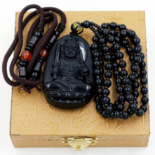 Dây chuyền mặt Phật Bất động thiên vương 6 cm