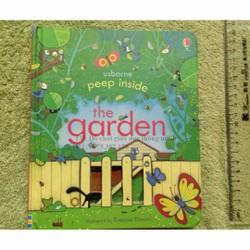 Sách bìa cứng Peep inside the garden đồ chơi giáo dục