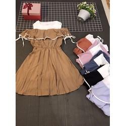 Đầm rớt vai xinh xắn