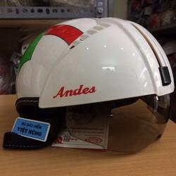 Mũ bảo hiểm Andes 181 tem xanh lá