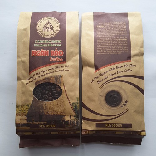 02 Túi Cà phê hạt nguyên chất Ngân Bảo 500gr Đặc biệt -NPP HS shop
