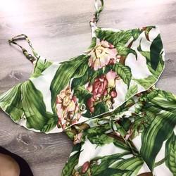 JUMSUIT: hoa 2 dây rút eo
