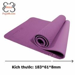 Thảm tập Yoga đàn hồi cao TPE màu tím nhạt