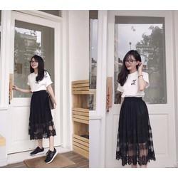 sét áo chân váy dài vintage