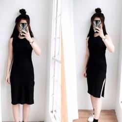 Đầm Suông Xẻ Tà_VD164
