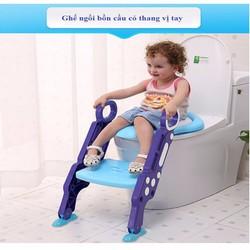 Nắp bồn cầu có thang cho bé tập đi vệ sinh- Nắp bồn cầu có thang