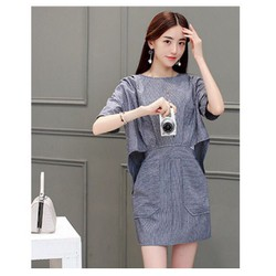 đầm suông phối túi thời trang korea