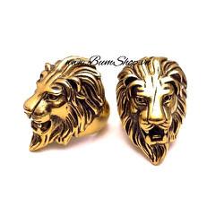 Nhẫn inox cao cấp cẩn đầu sư tử uy mãnh
