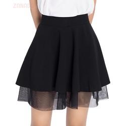Chân váy xòe ngắn phối lưới xinh xắn VSH012