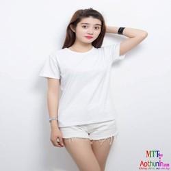 Áo thun trơn nữ màu trắng đơn giản cực đẹp - zfegi