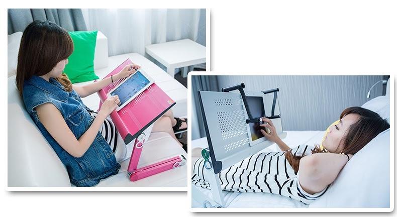Bàn Laptop Đa Năng - Bàn kê laptop đa năng - Bàn xoay laptop T6, giá chỉ  309,000đ! Mua ngay kẻo hết!   Store.SaleZone.Vn