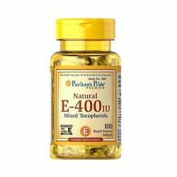 Viên nang vitamin E Puritan Pride E-400IU Mixed Tocopherols 100 viên