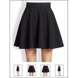 chân váy xòe đen
