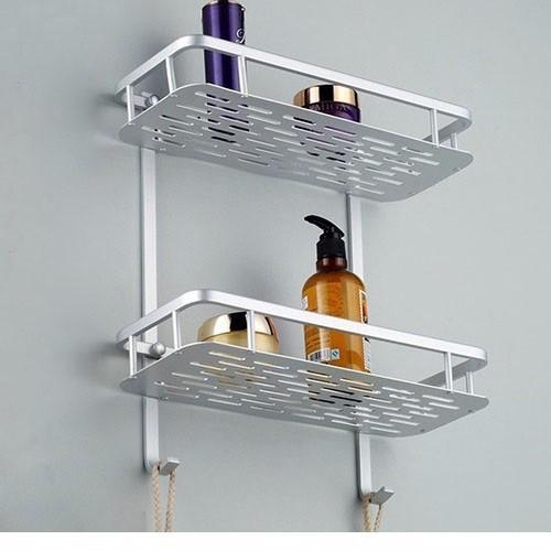 Kệ treo phòng tắm hợp kim nhôm 2 tầng