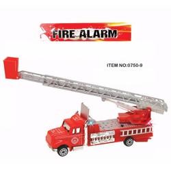đồ chơi xe cứu hỏa có nhạc đèn, chạy trớn. Thang có thể xoay, nâng hạ