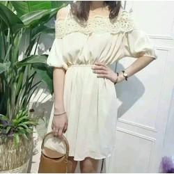 Đầm xoè quảng châu viền ren cao cấp NA02