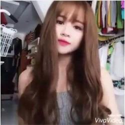 Bộ tóc giả dài xoăn nhẹ đuôi thời trang