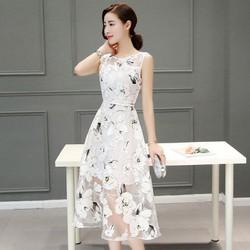 Đầm voan đẹp y hình